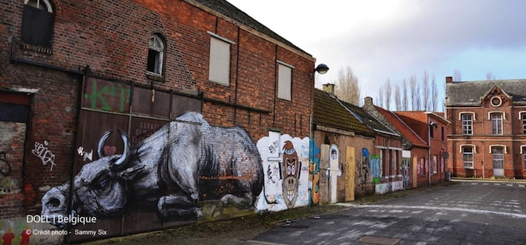 buffle-village-street-art-abandonne-doel-nord-decouverte