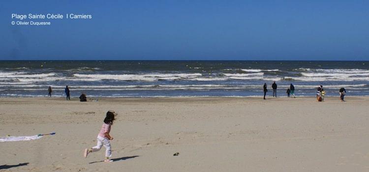 La station balnéaire de Camiers, une des plages de la côte d'Opale