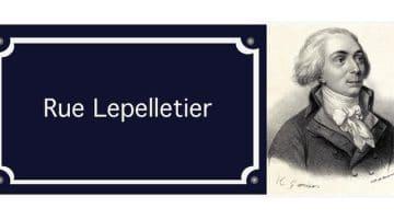 le visage qui a donné le nom de la rue Lepelletier à Lille