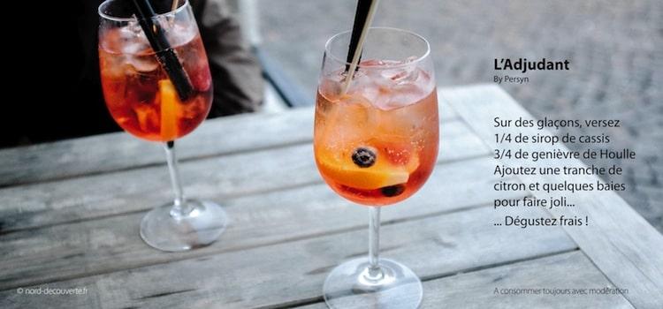 recette de cocktail adjudant avec genièvre de Houlle de la distillerie Persyn