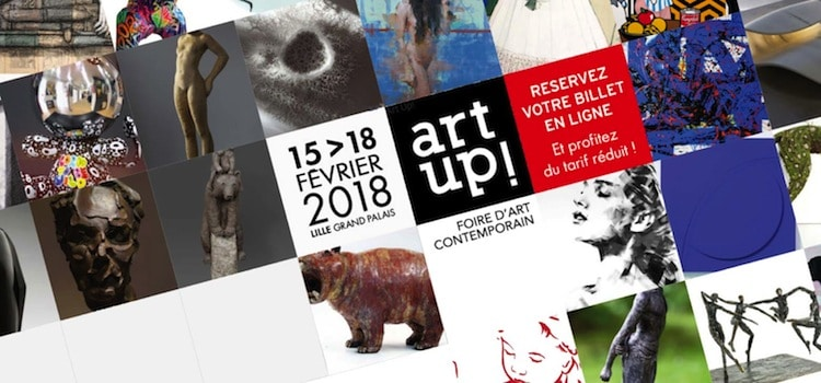 édition 2018 d'Art Up à Lille Grand Palais