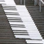 escalier en touche de piano qui mène aux terrasse du Colysée à Lambersart