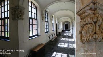 Hospice d'Havré : vue du cloître intérieur, actuellement la maison Folie de Tourcoing, un reportage Nord Découverte