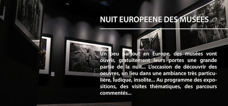 visuel qui annonce la nuit européenne des musées