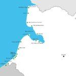 carte des lieux de la Baie de Somme décrit dans le guide Balades et Boules de Poils décrit