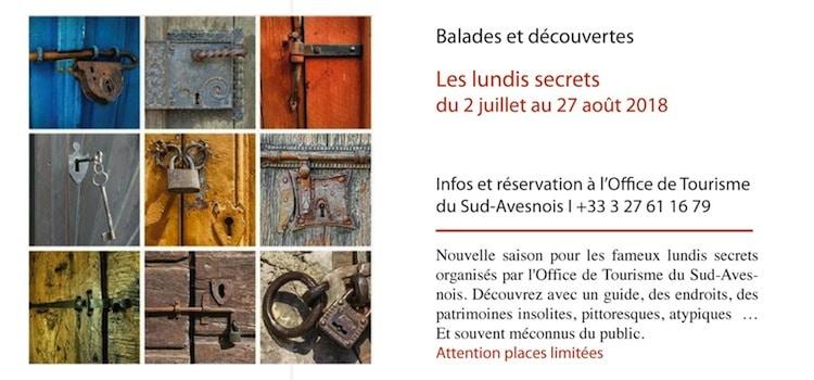les lundis secrets de l'Avesnois, en juillet et août