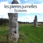 les deux mégalithes appelées les pierres jumelles à Ecoivres