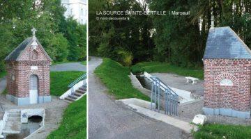 vue de la chapelle et la source miraculeuse Sainte Bertille à Maroeuil