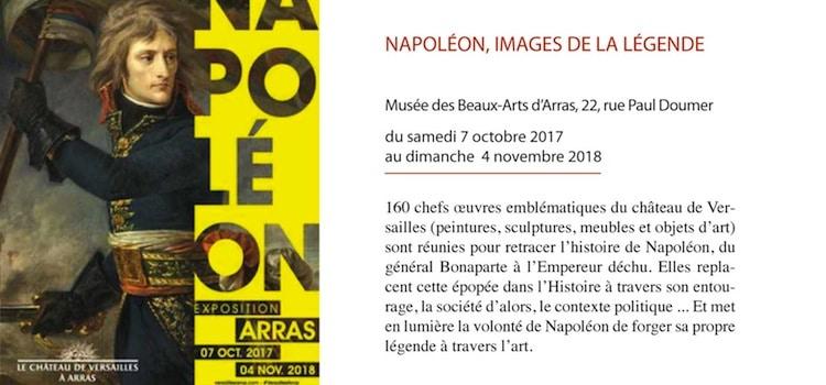 exposition Napoléon, images de Légende au musée des Beaux Arts d'arras
