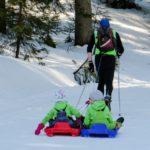 ski de fond et luge sur les pistes de Waismes en Belgique
