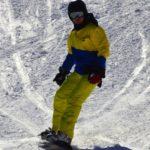 descente de snowboard sur les pistes de ski des Trois-Ponts au Val de Wanne en Belgique