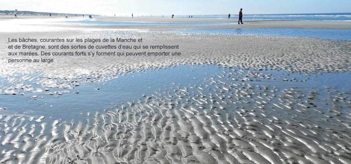 le phénomène des bâches sur les plages de la Manche et Bretagne