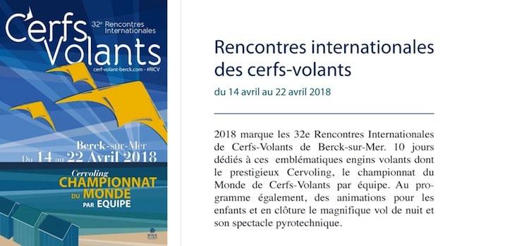 affiche des rencontres internationales de cerfs-volants à Berck-sur-Mer