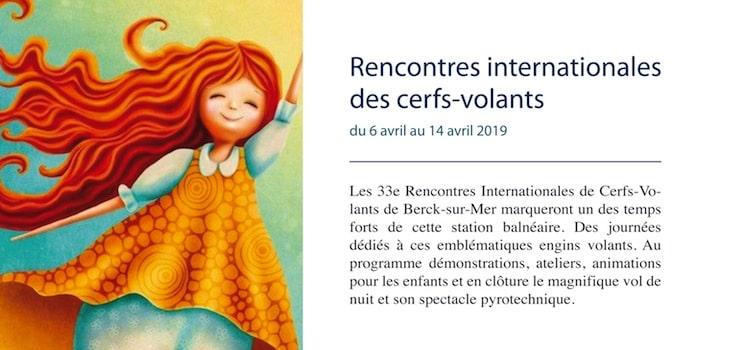 affiche des rencontres internationales de cerfs volants de Berck-sur-Mer