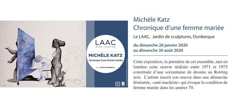 affiche de l'exposition Michèle Katz au Laac