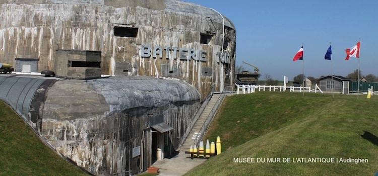 vue extérieure du musée du mur de l'Atlantique à Audinghen