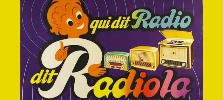 affiche de publicité pour les radios Radiola