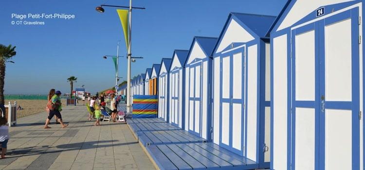 cabines de plage de Petit-Fort-Philippe