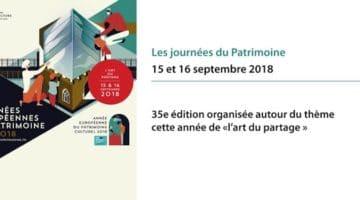 affiche de l'édition 2018 des journées du patrimoine