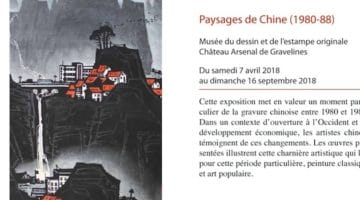 affiche de l'exposition paysage de chine au musée du dessin de Gravelines