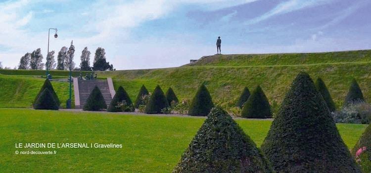la Vigie, un bronze de Gadenne en haut des remparts de Gravelines