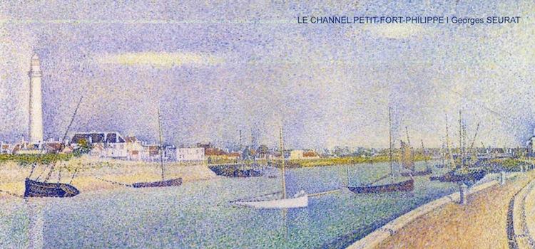 tableau du Channel de Petit-Fort-Philippe peint par Seurat