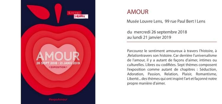 présentation de l'exposition Amour au musée Louvre Lens