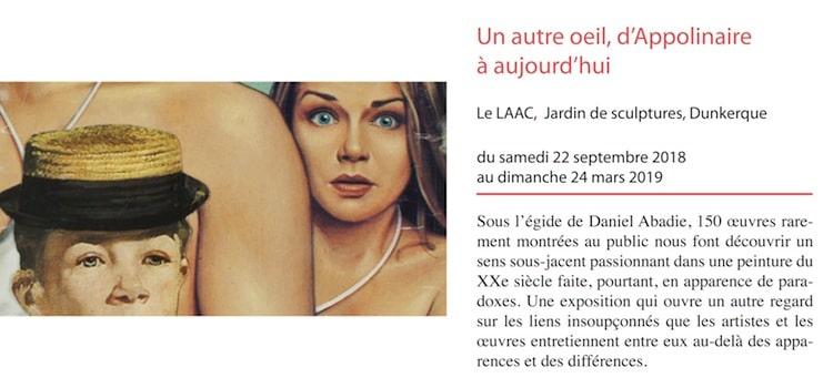 affiche de l'exposition un autre oeil du musée du Laac de Dunkerque