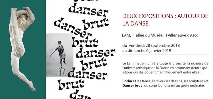 annonce des expositions autour de la Danse du musée LAM de Villeneuve d'Ascq-