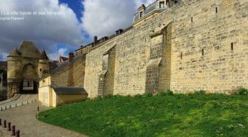 Vue de la porte sud des remparts de Laon