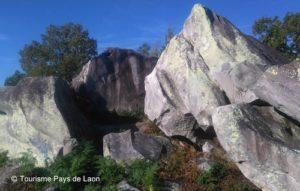 les rochers de la Hottée Gargantua à Molinchart