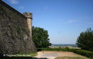 vue de la promenade des remparts de la citadelle de Laon