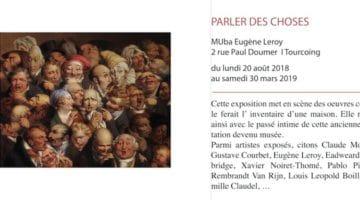 affiche de l'exposition Parler des Choses du MUba de Tourcoing