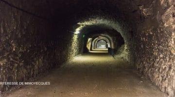 vue d'une galerie souterraine de la forteresse de Mimoyecques