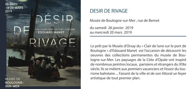 affiche de l'exposition désir de rivage au musée de Boulogne-sur-Mer