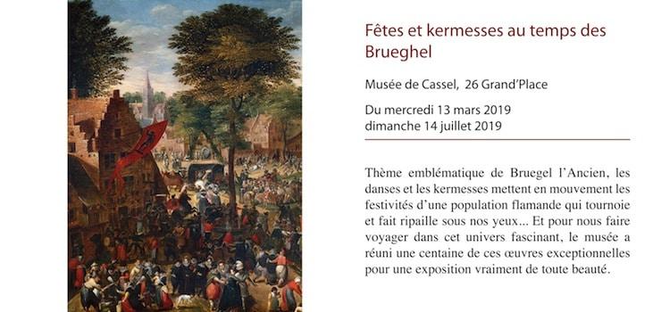 affiche de l'exposition fêtes et Kermesse au temps de Brueghel à Cassel