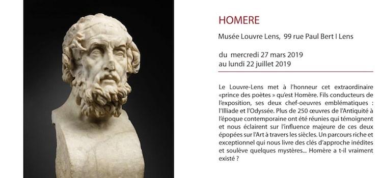 affiche de l'exposition Homère au musée Louvre-Lens