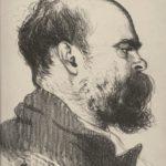 portrait au fusain de Paul Verlaine