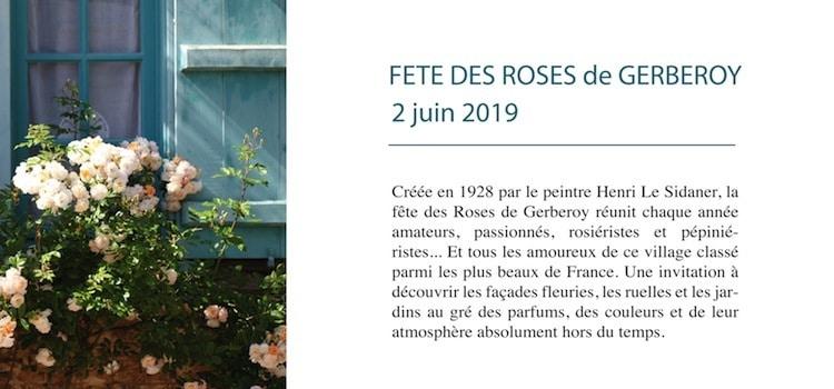 annonce de la fête des roses de Gerberoy en juin en juin