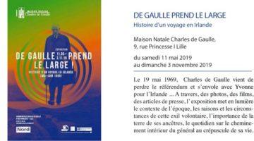 exposition à la maison natale de charles de Gaulle, intitulée Charles de Gaulle prend le large