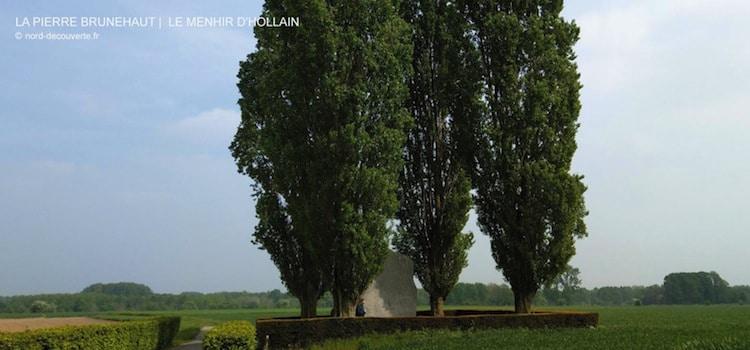 vue générale du mégalithe la pierre Brunehaut à Hollain en Belgique