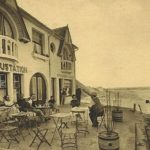 terrasse de café à Stella-Plage au début du XXe siècle