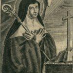 portrait de sainte Austreberthe