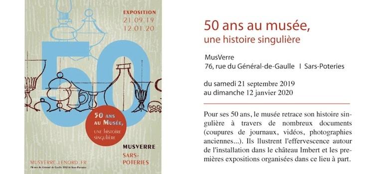 annonce des 50 ans du MusVerre de Sars-Poteries