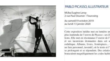 annonce de l'exposition Picasso Illustrateur qui se tient au musée MBA de Tourcoing