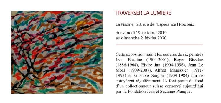 annonce de l'exposition traverser la lumière du musée La Piscine de Roubaix