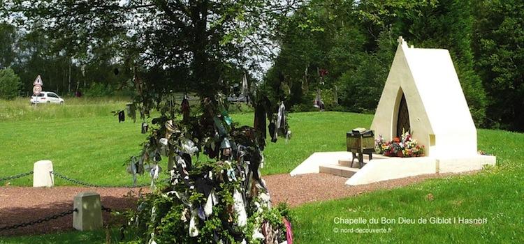 vue de la chapelle à loques du Bon Dieu de Giblot à Hasnon