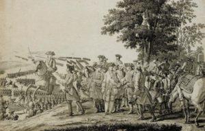 gravure de la bataille de Fontenoy