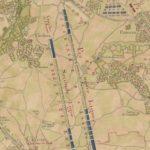 plan d'occupation de l'armée de Louis XV dans la plaine de Cysoing