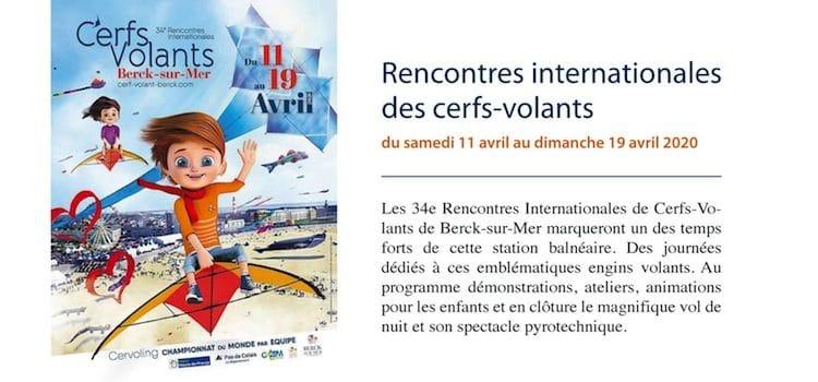 affiche de la 34e éditions des rencontres de cerfs-volants de Berck-sur-Mer